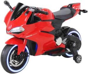 Elektromotorrad Ducati Style Kinderauto Kinderbike Elektrofahrzeug Spielzeug 35W (Rot)