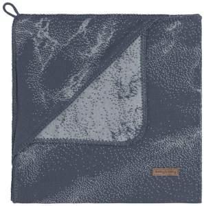 BO Baby's Only - Kapuzendecke Marble - Granit/Grau - 75x75 cm - 50% Baumwolle/50% Polyacryl