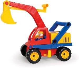 Lena 4151 Aktiv Bagger mit Spielfigur, Fahrzeug, 35 cm, Mehrfarbig