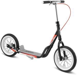 Puky 5400 'R 07 L' Scooter, ab 4,5 Jahren, höhenverstellbar bis 90 cm, Dual Density Lenkergriffe, Luftbereifung mit farbiger Seitenwand, max. belastbar bis 100 kg, schwarz