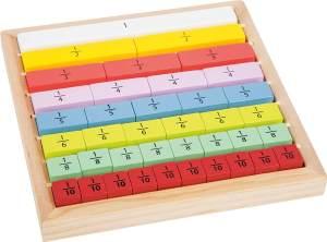 """Lernspiel """"Bruchrechnung"""", aus Holz, 17 x 17 cm ab 6 Jahre, von Legler"""