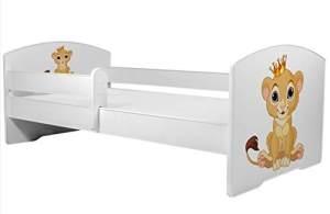 Angelbeds 'Luk2 Luk' Kinderbett 80 x 160 cm, Motiv 1, mit Lattenrost, Matratze und mit Bettschublade