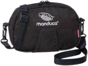 manduca Pouch - Gürteltasche, Hüfttasche, Bauch- & Umhängetasche (Black/schwarz, HempCotton)