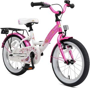 Kinderfahrrad Bikestar 16 Zoll - Classic Flamingo Pink & Diamant Weiß