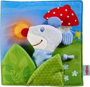 HABA 304211 - Stoffbuch Gute Nacht, viel Erzählspaß für Babys ab 6 Monaten, inklusive Maus als Fingerfigur, prima Geschenk zur Geburt und Taufe