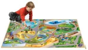 House of Kids 11227-E3 - Playmat Quadri Zoo Connect, 100 x 150 cm