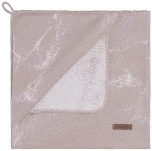 BO Baby's Only - Kapuzendecke Marble - Alt Rosa/Klassisch Rosa - 75x75 cm - 50% Baumwolle/50% Polyacryl