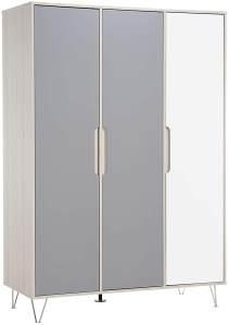 Geuther 1142S3 Kleiderschrank Marit 3-türig - grau/weiß