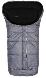 Altabebe AL2203 - 40 Winterfußsack, dunkelgrau/schwarz, universell einsetzbar