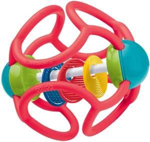 Ravensburger ministeps 4151 baliba Rasselball, Baby Spielzeug ab 3 Monate, Greifling, Babyrassel, rot