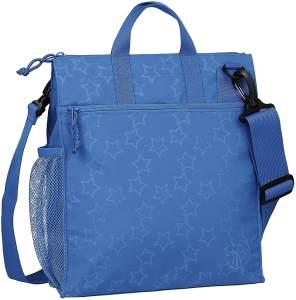 LÄSSIG Baby Wickeltasche Kinderbuggytasche Buggy Tasche Kinderwagen/Casual Buggy Bag Reflective Star, blau