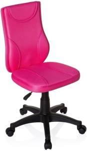 hjh OFFICE 670410 Kinder Schreibtischstuhl KIDDY Base Netz-Stoff Pink Drehstuhl Ergonomisch Höhenverstellbar