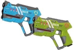 Jamara 'Impulse Laser Gun' Pistol Set, blau/grün