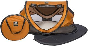 Deryan Travel Cot Peuter Luxe Orange Travel Cot Peuter Luxe Orange, , orange