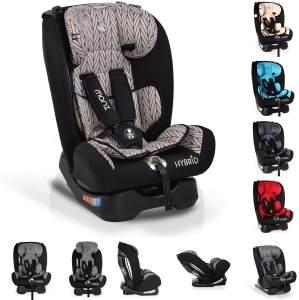 Moni Kindersitz Hybrid 0-36 kg Gruppe 0+/1/2/3 Reboarder Rückenlehne verstellbar, Farbe:beige-schwarz
