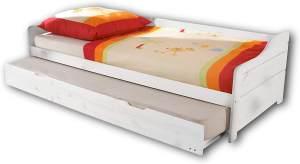 Bega 'Bonnie' Einzelbett mit Ausziehbett weiß 90x200 cm
