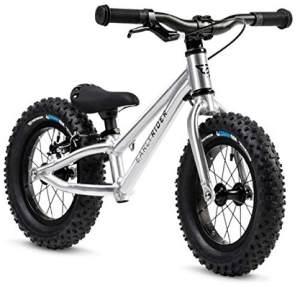 EARLY RIDER BF12 'Lauflernrad Foot, 12 Zoll', für Kinder ab 88 cm Körpergröße, bis 25 kg belastbar, höhenverstellbar, inkl. Bremse, silber