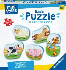 Bade-Puzzles: Bauernhof, Kinderpuzzle 5x 2 Teile