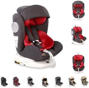 Lorelli Kindersitz Lusso, SPS, Isofix, Gruppe 0+/1/2/3, (0-36 kg), Sitz drehbar, Farbe:dunkelgrau