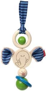 sigikid, Mädchen und Jungen, Holz-Anhänger, Elefant Lolo Lombardo, Blau/Bunt, 75067