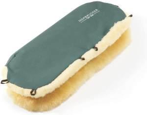 Hofbrucker Lammfell-Handwärmer für Kinderwagen tannengrün