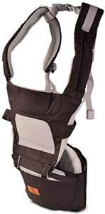 Cangaroo Babytrage I Carry 5 in 1 Bauch- Rückentrage abnehmbarer Sitz, Gürtel schwarz