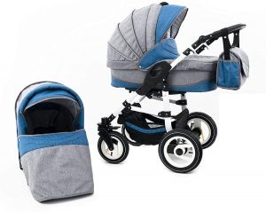 Tabbi ECO LN | 2 in 1 Kombi Kinderwagen | Hartgummireifen | Farbe: Lightblue