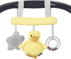 Sterntaler Spielzeug zum Aufhängen mit Klettverschluss, Ente Edda, Alter: Für Babys ab der Geburt, Gelb