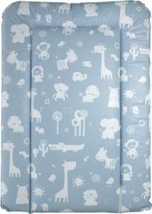 New Swedish Design 'Zootiere' Wickelauflage 50 x 73 cm blau