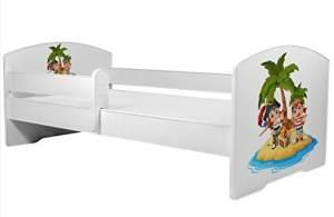 Angelbeds 'Luk2 Luk' Kinderbett 80 x 160 cm, Motiv 19, mit Lattenrost, Matratze und mit Bettschublade