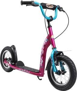Kinderroller Bikestar Premium 12 Zoll - Sport Berry und Türkis