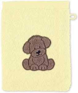 Sterntaler Waschhandschuh Hund Hanno, Größe: 21 x 15 cm, Gelb