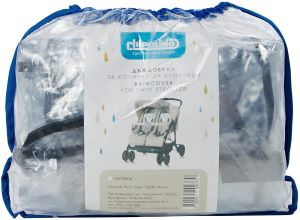 Chipolino DKT0004 Regenschutz Zwillingskinderwagen