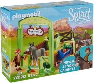 PLAYMOBIL 70120 Spirit - Riding Free Pferdebox Snips & Herr Karotte, bunt