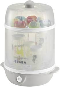 Beaba 2-in-1 Flaschensterilisator Steril'express Grau, inkl. Messbecher und eine Flaschenzange
