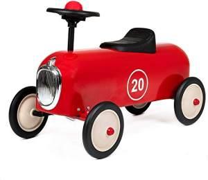 Retro Rutschauto Racers, aus Metall, rot, von Baghera