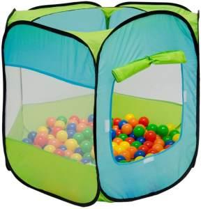 Spielzelt Kinderzelt Pop-Up-Zelt Eliot Bällebad Zelt für Drinnen und Draußen Kinderspielzelt inkl. Aufbewahrungstasche