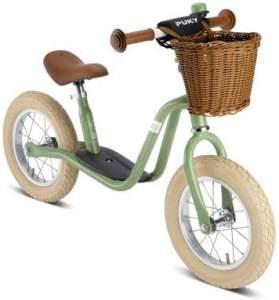 PUKY 4067 'LR XL CLASSIC' Laufrad, für Kinder ab 95 cm Körpergröße, bis 25 kg belastbar, höhenverstellbar, inkl. Korb, retro-grün