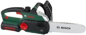 Theo Klein 8399 Bosch Kettensäge I Originalgetreue, kindgerechte Nachbildung I Batteriebetriebene Säge mit Licht-und Soundeffekten I Maße: 13 cm x 39,5 cm x 14 cm I Spielzeug für Kinder ab 3 Jahren