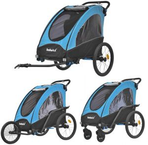 Tiggo Kinderwagen-Fahrradanhänger 2in1 Blau