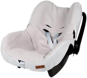 BO Baby's Only - Maxi-Cosi Bezug 0+ aus Baumwolle - 54x42x2 cm - für Jungen und Mädchen - Silbergrau