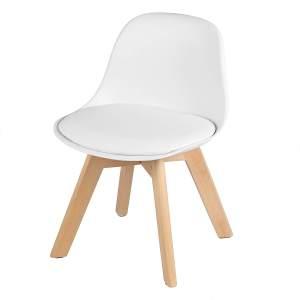 WOLTU Kinderstuhl mit Holzbeinen Lisa weiß