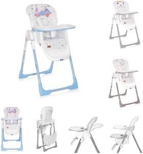Lorelli Kinderhochstuhl Dalia klappbar, Sitz und Fußstütze mehrfach verstellbar blau