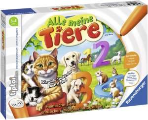 Ravensburger tiptoi 00776 - 'Alle meine Tiere' / Spiel von Ravensburger ab 3 Jahren / Lerne spielerisch die Zahlen von 1 bis 10 mithilfe heimischer Tiere