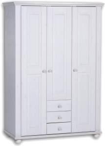 Bega Kleiderschrank Babyzimmer LAURA Kiefer massiv weiß 3-türig