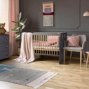 Kids Collective 'Pauline' Babybett 60x120cm, 3-fach höhenverstellbar, mit Schlupfsprossen