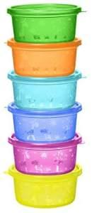 NIP Snackbox für Kleinkinder und Babys, mit niedlichem Motiv, BPA-frei, Made in Germany, 300ml Füllmenge, 6er Set