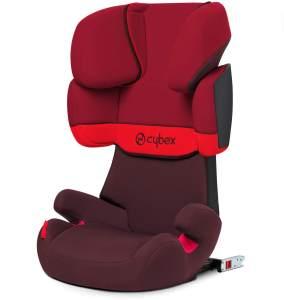 Cybex Silver Solution X-fix, Autositz Gruppe 2/3 (15-36 kg), Mit Isofix, Rumba Red