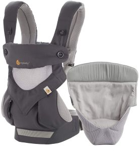 Ergobaby '360 Cool Air' Babytrage 4-Postioen Carbon Grey