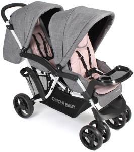 Chic 4 Baby Geschwisterwagen DOPPIO Melange rosa
